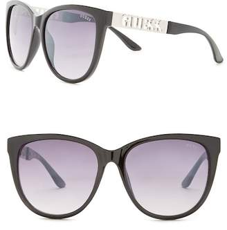 GUESS Women's Cat Eye Acetate Frame Sunglasses