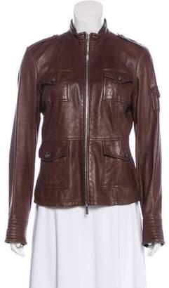 Tory Burch Zip-Up Leather Jacket