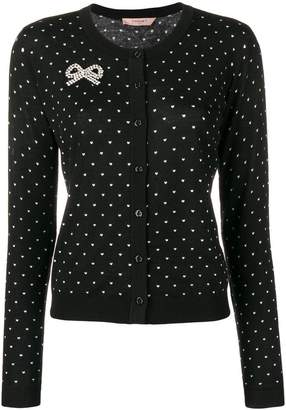 Twin-Set heart embroidered cardigan