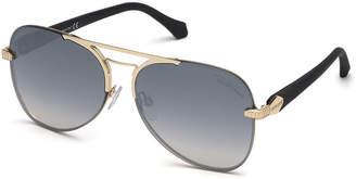Roberto Cavalli Semi-Rimless Metal Aviator Sunglasses