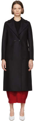 Harris Wharf London Black Boxy Duster Coat