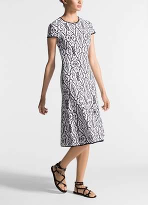 St. John Ikat Jacquard Knit Dress
