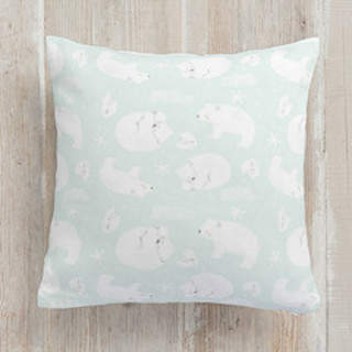 polar bear, polar bear Self-Launch Square Pillows