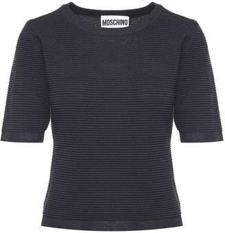 Moschino Ribbed Lurex-knit T-shirt