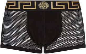 Versace Low Rise Mesh Trunks