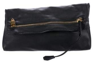 Tom Ford Leather Fold-Over Clutch