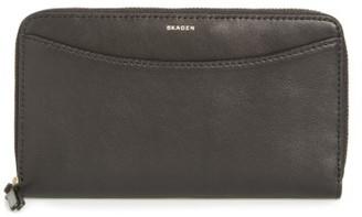 Women's Skagen Leather Continental Wallet - Black $95 thestylecure.com