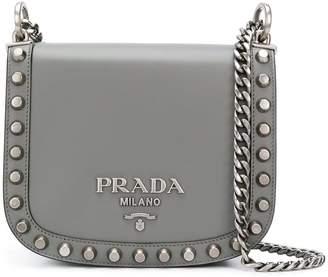 Prada studded crossbody bag