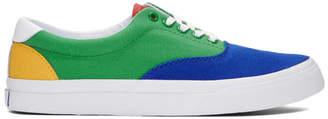 Polo Ralph Lauren Green and Blue Thorton III Sneakers