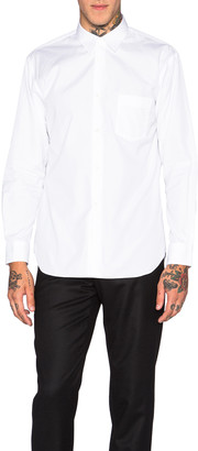 Comme des Garcons 'Forever' Poplin Cotton Button Down in White | FWRD