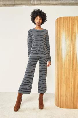 Rag Doll Ragdoll ZEBRA FLARE PANT Dark Grey Zebra