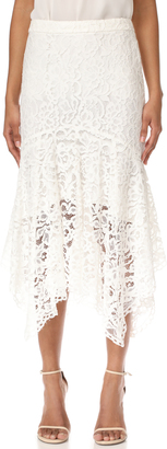 WAYF Ghita Lace Skirt $109 thestylecure.com