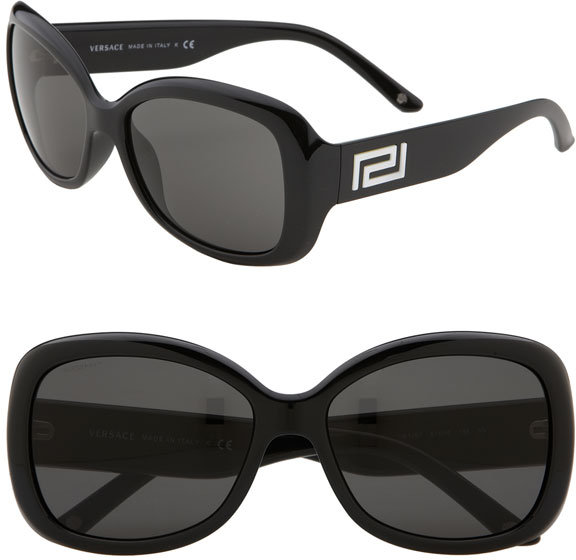 Versace Greek Key Logo Oversized Sunglasses