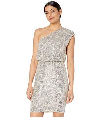 bb94ee61fb67 Adrianna Papell One Shoulder Sequin Blouson Cocktail Dress