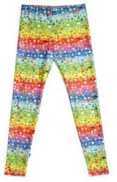 Zara Terez Girl's Rainbow Emoji Leggings