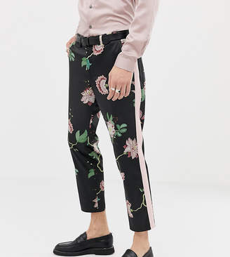 Heart N Dagger skinny fit suit pant in floral sateen