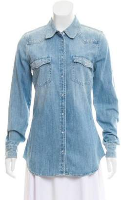 Adriano Goldschmied Embroidered Denim Top w/ Tags
