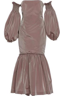By Efrain Mogollon Eleonora Strapless Silk-Taffeta Dress Size: 0