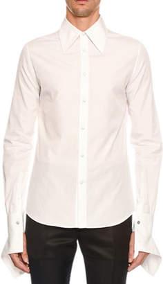 Alexander McQueen Men's Zipper-Cuff Sport Shirt
