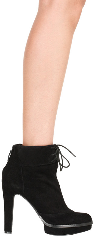 Mercy Ankle Boot in Black Suede - by Elizabeth and James Shoes