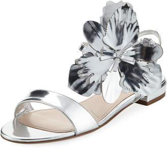 e52b765b6 Metallic Flat Sandals - ShopStyle