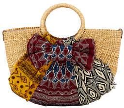 Sam Edelman Jaelynn Straw Paper Basket Satchel Bag