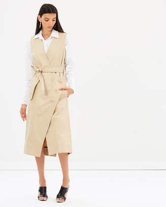 CHRISTOPHER ESBER Sleeveless Trench Dress