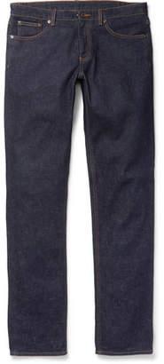 Ermenegildo Zegna Slim-Fit Garment-Washed Stretch-Denim Jeans