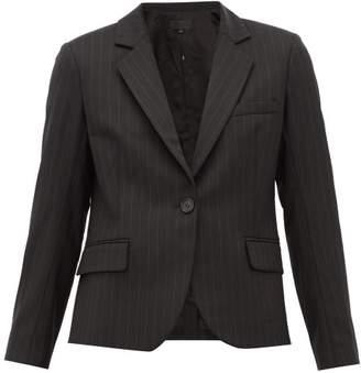 Nili Lotan Julietta Pinstriped Wool Blend Jacket - Womens - Black White