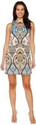 London Times Star Paisley Sleeveless Shift Women's Dress