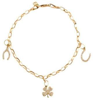 Sydney Evan 14k Diamond Luck Charm Bracelet