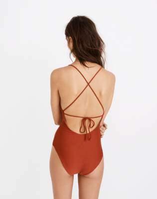 Madewell Mara Hoffman Olympia One-Piece Swimsuit