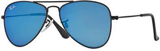 Ray-Ban Junior Mirrored Aviator Sunglasses