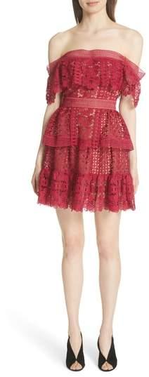 Off the Shoulder Guipure Lace Dress