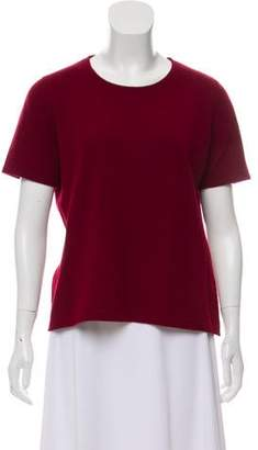 Brunello Cucinelli Short Sleeve Cashmere Top