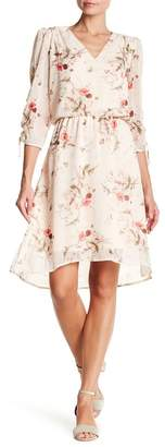 Bobeau B Collection by Ember Ruche Sleeve Dress