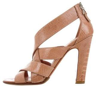 Alaia Ostrich Leg Crossover Sandals
