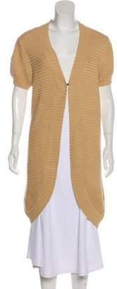 Magaschoni Short Sleeve Long Cardigan