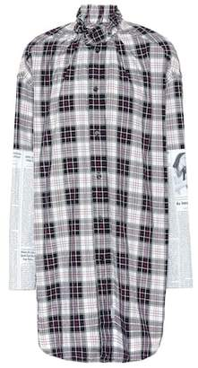 Balenciaga Checked cotton shirt