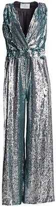 Carolina Ritzler Sleeveless Sequin Jumpsuit