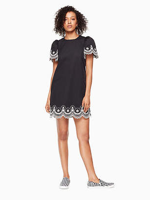 Kate Spade Flutter sleeve cutwork dress