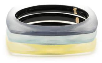 Alexis Bittar Soft Square Bangle Bracelet 3 Stack Set