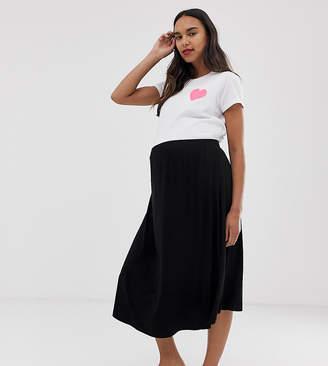Asos (エイソス) - Asos Maternity ASOS DESIGN Maternity midi skater skirt