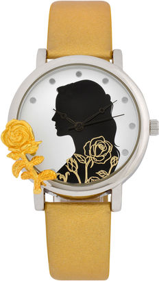 DISNEY Disney Beauty and the Beast Womens Gold Tone Strap Watch-Bbm5005jc $35 thestylecure.com
