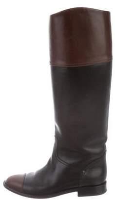 Chanel Cap-Toe Knee-High Boots Black Cap-Toe Knee-High Boots