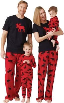Hatley Little Blue House by Little Boys Kids Pajama Set- Moose On