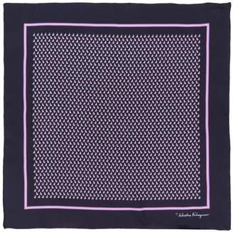 Salvatore Ferragamo graphic print pocket square
