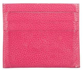 Longchamp Grained Leather Card Holder