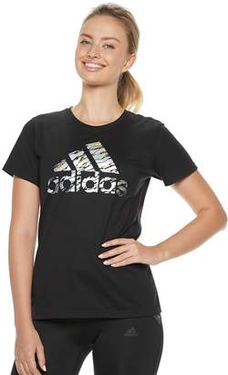 adidas Women's Badge of Sport Short Sleeve Graphic Tee