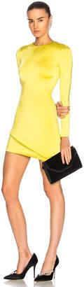 Cushnie Asymmetrical Hem Long Sleeve Mini Dress